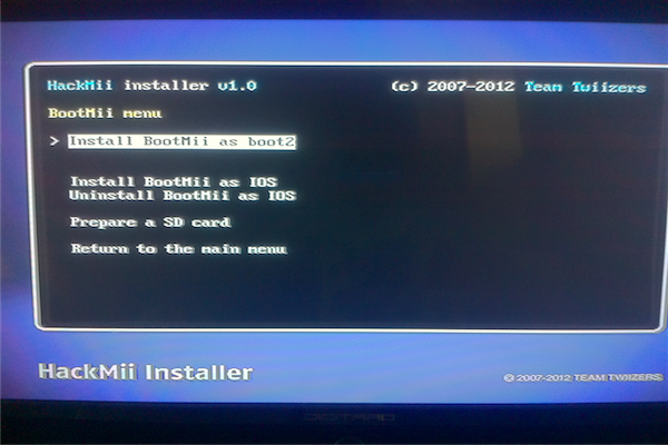 The Hackmii Installer Font   How To Install Bootmii Through
