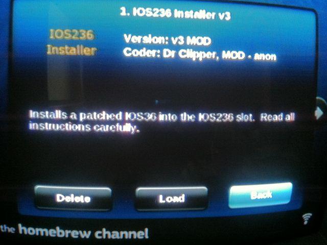 IOS236 Installer v3の起動